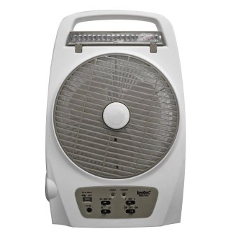 Harga Leetec LT-620 Rechargeable Emergency Fan (White/Grey)