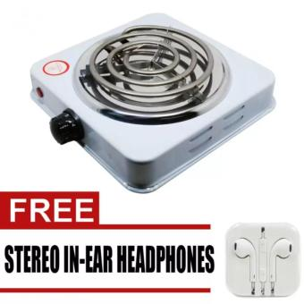 Harga Microbishi MES-1010A Hot Plate Single Electric Stove (White) with Free Stereo In-Ear Headphone (White)