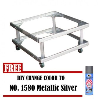 Harga Prostar Lifted Refrigerator Base / Washing Machine Base / Range Oven Stand Dura Base Adjustable with Wheels (White) with Free No 1580 DIY (Metallic Silver)