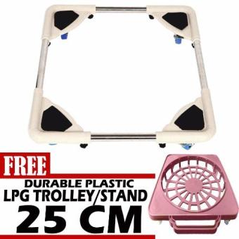 Harga Prostar Stainless Steel Washing Machine Base / Durabase with Free 25 cm Durable Plastic LPG Base /Trolley-PINK
