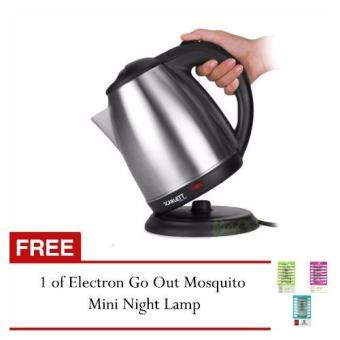 GMY Scarlett Wireless Electric Kettle 1.8L (Silver) with FREE Electron Go Out Mosquito Mini Night Lamp Price Philippines