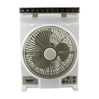 "Leetec LT-640 12"" Rechargeable Emergency Fan (White/Grey) Price Philippines"