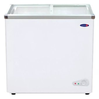 Harga Fujidenzo FD-58 ADF 5.8cu. ft. Glass Top Chest Freezer (White)