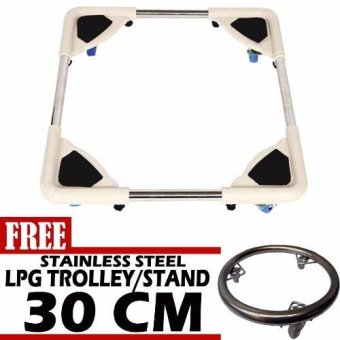 Harga Prostar Durabase Washing Machine Stand / Ref Stand / Furniture Stand with Free 30 cm Stainless Steel LPG Stand