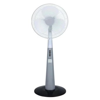 "Leetec LT-616 Rechargeable 12"" Oscillating 2-Speed Fan with LED Light (Grey) Price Philippines"