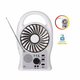 Harga Leetec LT-621 Rechargeable Fan with Desk Lamp & FM Radio