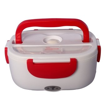 Harga Three Layers Electronic Heating Lunch Box (Red)