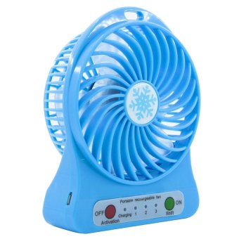 Homu Portable Mini USB Rechargeable Portable Cooling Fan (Blue) Price Philippines