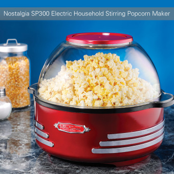 Nostalgia SP300 Retro Electric Household Stirring Popcorn Maker Machine Corn Popper with Measuring Spoon Cup - intl Price Philippines