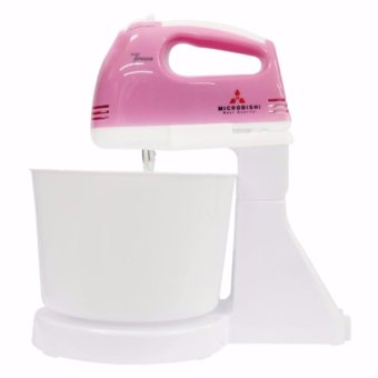 Harga PH_STORE Microbishi MHM-503/MHM-888 Super 7-Speed Stand Mixer with Bowl (Pink) #29816