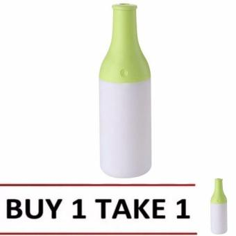 USB Portable Mini Cool Cocktail Bottle Humidifier Office Air Diffuser Mist Maker LED Nightlight (Green) BUY 1 TAKE 1 Price Philippines