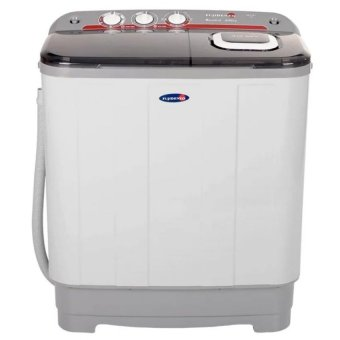 Harga Fujidenzo JWT-601 Twin Tub Washing Machine 6kg. (White/Grey)