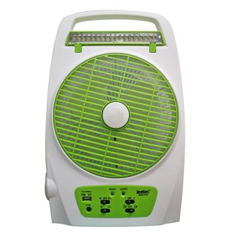 Harga Leetec LT-620 Rechargeable Emergency Fan (White/Green)