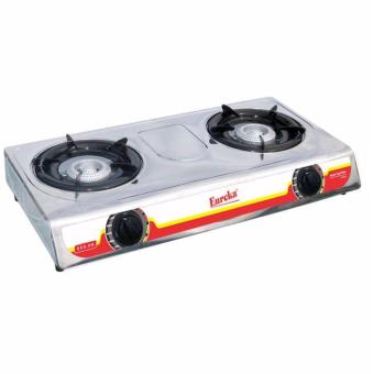SHOP AND THRIFT Eureka EGS-DB Double Burner Gas Stove (Silver) Price Philippines