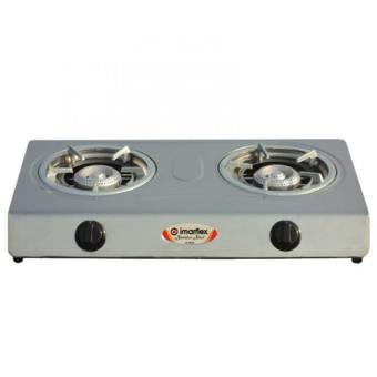 Imarflex IG-650S Double Burner Gas Stove (Silver)