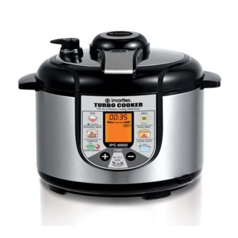 Imarflex IPC-600D Turbo Cooker 6L (Stainless/Black)