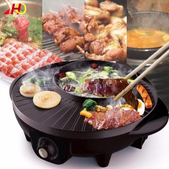 Korean Style 2 in 1 Multifunctional 1600W Electric BBQ RacletteHotpot With Grill Pan