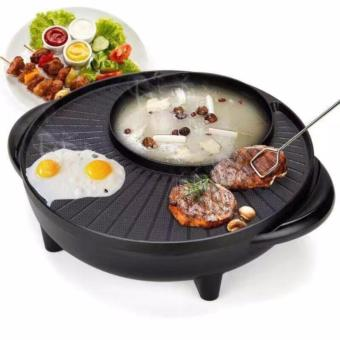 Korean Style 2 in 1 Multifunctional Electric BBQ Raclette HotpotWith Grill Pan