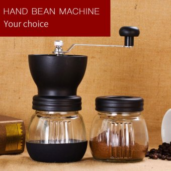 Manual Ceramic Coffee Grinder Manual ABS Ceramic core StainlessSteel Burr grinder Kitchen Mini Manual Hand Coffee Grinder - intl