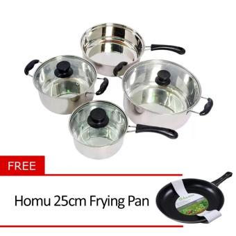 Micromatic MCS-7 Cookware For Induction with Free Homu 25cm Frying Pan