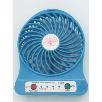 MINI USB RECHARGEABLE PORTABLE COOLING FAN [BLUE]