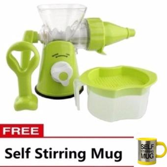 Multi-function Manual Juicer (Green) with FREE Self Stirring Mug(Yellow)