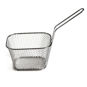 OH Stainless Steel Chef Basket Mini Fry Baskets Fryer CookingFrench Fries Basket Silver - intl Price Philippines