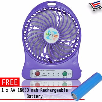Portable Fan Rechargeable Cooling Mini Fan with free 18650 AArechargeable battery and USB cord