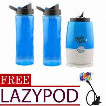 Shake 'n Take 3 (Blue) with 2 Tumblers with free Lazypod (color mayvary)