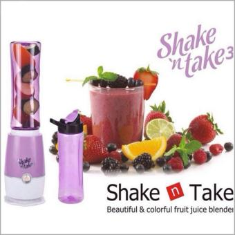 Shake N Take 3 Fruit Juice Smoothie Blender with 2 Sport Bottles Juicer (purple)