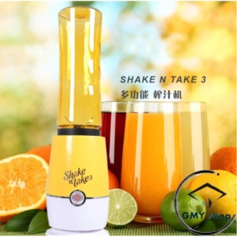 Shake N Take 3 Fruit Juice Smoothie Blender with 2 Sport Bottles Juicer (YELLOW)