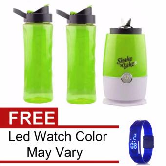 Shake n Take 3 Tumbler & Blender (Green)with Free Led WatchColor May Vary