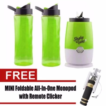 Shake n Take 3 Tumbler & Blender (Green)with Free Mini MonopodColor May Vary