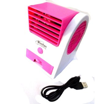 USB Electric Air Conditioning Mini Fan Air cooler (Pink)