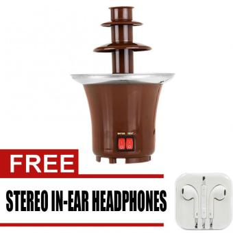 WAWAWEI MCF00001 Mini Chocolate Fountain (Brown) with free StereoIn-Ear Headphones (White)
