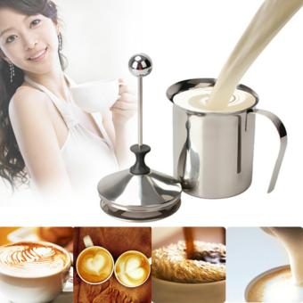 YBC 800mL Stainless Steel Milk Frother Milk Creamer Foam DoubleMesh