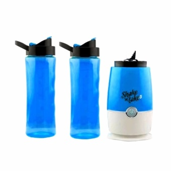 Zover Shake N Take 3 Mini Sports Bottle Electric Blender With ExtraBottle (Blue)