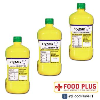 3 Bottles Frymax Coconut Cooking Oil 1L