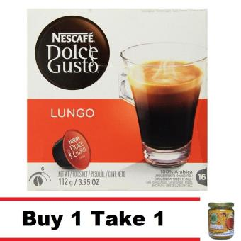 Buy 1 NESCAFE DOLCE GUSTO CAFE LUNGO CAPSULE 16 COUNT Take 1 AllNatural 12 in 1 Turmeric Tea 200g