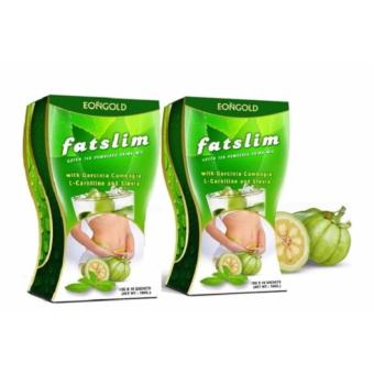 Fatslim - Green Tea Drink Mix with Garcinia Cambogia SET OF 2 BOX(BEST SELLER) Price Philippines