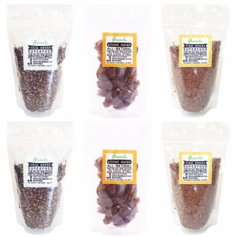 Greenola Chia Seeds + Flax Seeds + Pitted Dates Set of 6