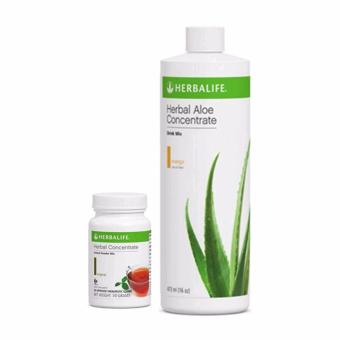 Herbalife Aloe Concentrate Mango Flavor and Herbal Tea Concentrate 50g