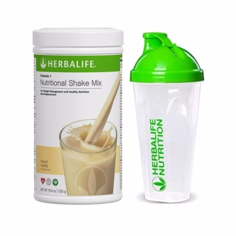 Herbalife Nutritional Shake French Vanilla Canister with Shaker Cup