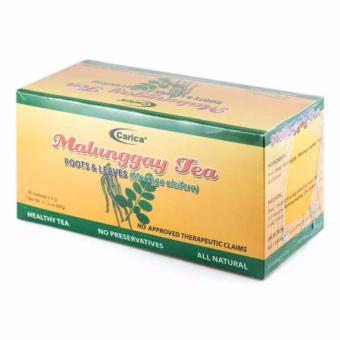 Carica Malunggay Roots and Leaves Tea - Box of 30 Tea bags (2g per tea bag) Price Philippines