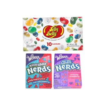 Harga Jelly Belly 10 Assorted 40g bag + 2 Wonka Nerds