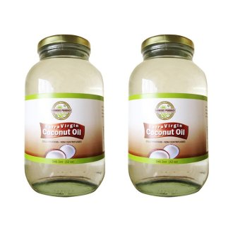 Harga Farmers Produce Virgin Coconut Oil 32oz (946ml) Export quality - Cold pressed Set of 2