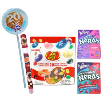 Harga Jelly Belly 20 Assorted Flavors Jelly Beans 100g + 2 Wonka Nerds 46.7g + The Secret Life of Pets Mega Mouth Spray Candy with FREE Candy Corner 20 Lollipop