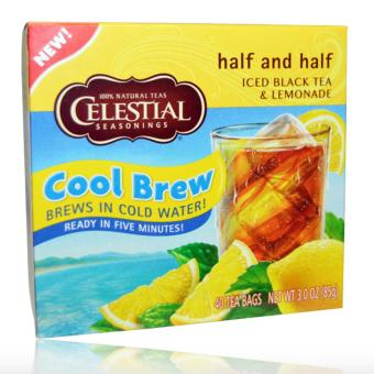 Harga Celestial Seasonings, Half and Half Cool Brew, Iced Black Tea & Lemonade, 40 Tea Bags, 3.0 oz (85 g)