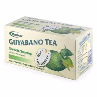 Carica Guyabano / Graviola / Soursop Tea - Box of 30 Tea bags (2g per tea bag) Price Philippines