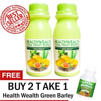 Harga HWIC Fruit Punch With Real Chia Seed and Barley Grass Powder Sets of 2 with FREE 1 HWIC Green Barley